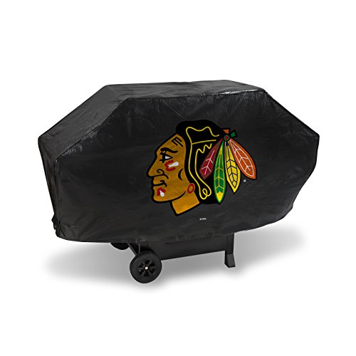 NHL Chicago Blackhawks Deluxe Grill Cover, Black, 68 x 21 x 35