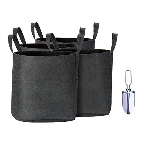 5 gallon black plastic pots - 6