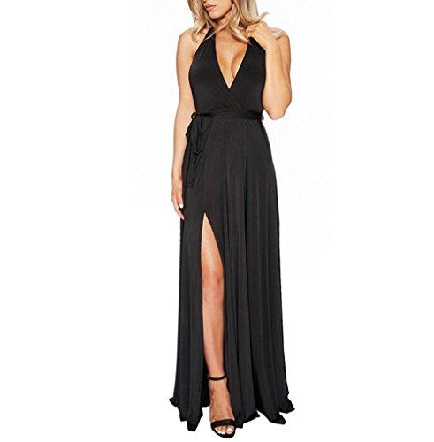 long black halter evening dress - 2