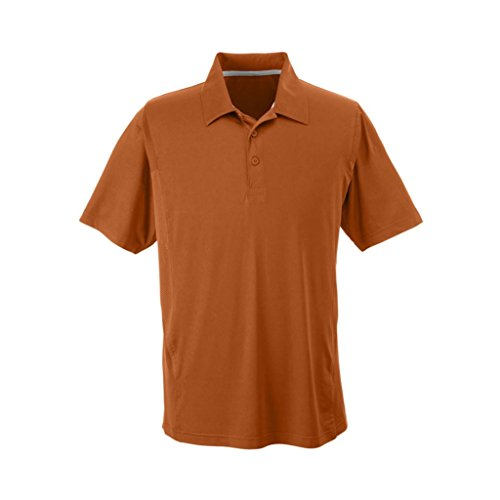 Ash City Apparel Team 365 Mens Charger Performance Polo (Large, Sport Burnt Orange)