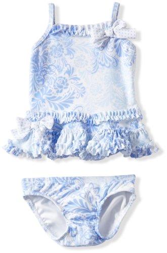 Kate Mack Baby-Girls Newborn Coney Island 2 Piece Swimsuit, Blue, 9 Months - Mack Tankini Nylon Kate
