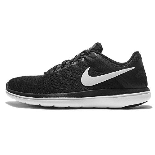 Nike Femmes Flex 2016 Rn Chaussures De Course Noir / Blanc-cool Gris