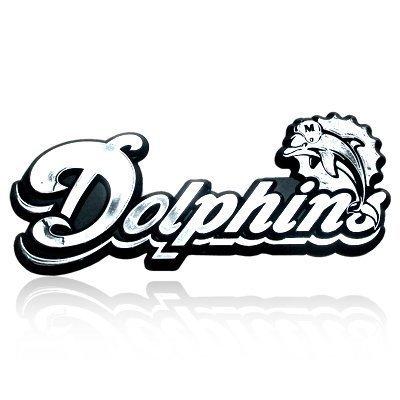 - NFL Miami Dolphins Chrome Automobile Emblem
