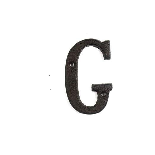Alaojie - Letras metálicas con números de Hierro Fundido, decoración para casa, Cartel para Puerta, DIY para cafetería, Pared