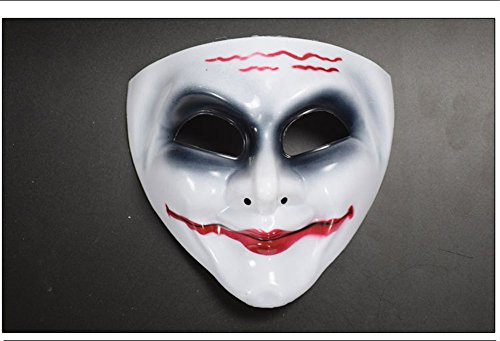Homemade Scary Clown Costumes (CHOP MALL Scary Clown Face Mask Happy Halloween Dress-Up Costume Party Novelty Mask for Halloween Party Masquerade Cosplay Festival Parties)