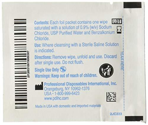 (Hygea C22370 Sterile Saline Wipe, 6