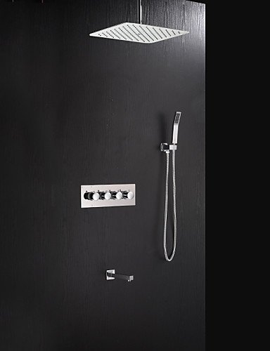 Ling@ Shower Tap Contemporary Chrome Brass Shower Faucet with Air Injection Technology Shower Head price
