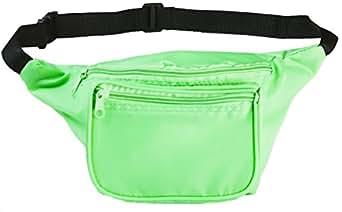 Funny Guy Mugs Plain Fanny Pack, Neon Green