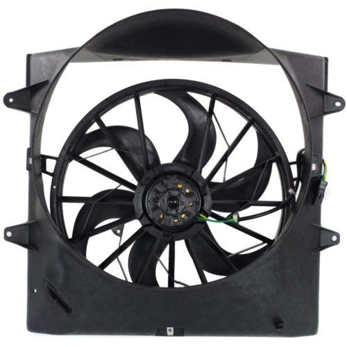 Garage-Pro Cooling Fan Assembly for JEEP GRAND CHEROKEE 1999-2003 Fan/Motor/Shroud 4.0L Engine ()
