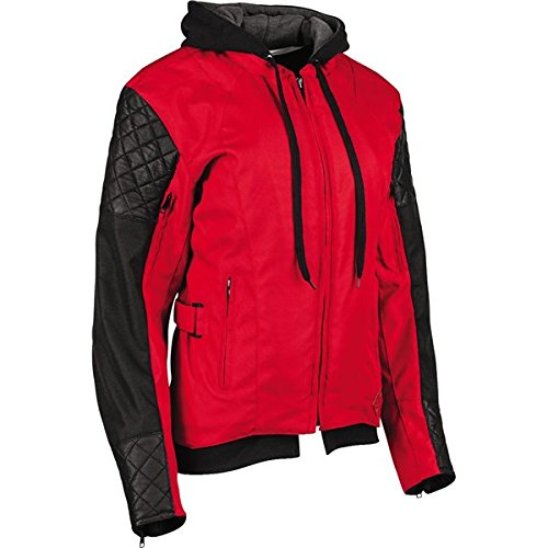 Red/Black Sz M Speed And Strength Double Take Women's Textile Jacket Motorcycle (Red Motorcycle Jacket Women)