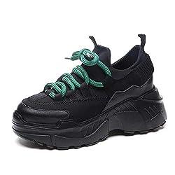 Feilongzaitianba Spring Autumn Women Casual Shoes Platform Woman Sneakers Ladies Trainers Chaussure Femme Tenis Feminino 8cm Black