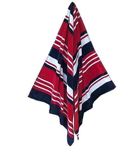 Espalma USA Patriotic Stripe Oversized Beach Towel Clearance, Over Sized Large Luxury 34
