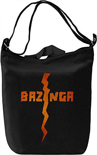 Bazinga Borsa Giornaliera Canvas Canvas Day Bag| 100% Premium Cotton Canvas| DTG Printing|