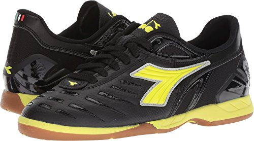 Diadora Maracana 18 W ID Black/Fluo Yellow Men's 7, Women's 8.5 Medium