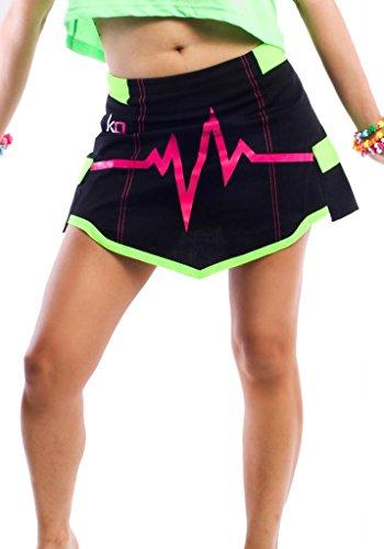 - Kik Girl Electric Cargo Skirt by Kikwear Small Black