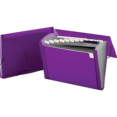 (Staples 498252 Poly Expanding File Letter Size 13-Pocket Violet (68047S) )