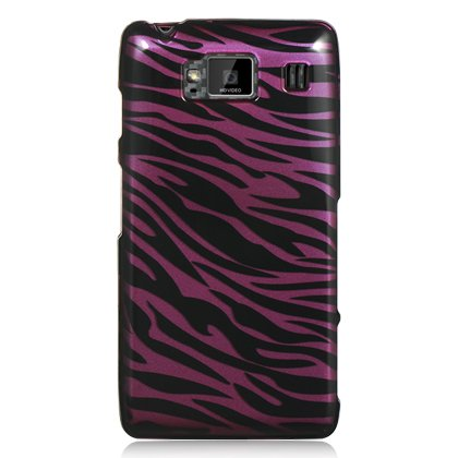 Zebra Motorola Faceplates (Dream Wireless CAMOTXT926PLZ Slim and Stylish Design Case for the Motorola Droid Razr HD/Fighter/XT926 - Retail Packaging - Plum/Zebra)