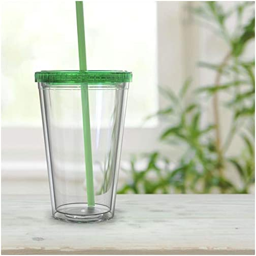 Maars Clear Classic Insulated Tumblers 16 oz. | Double Wall, Reusable Plastic Acrylic | Perfect for Parties, Birthdays… |
