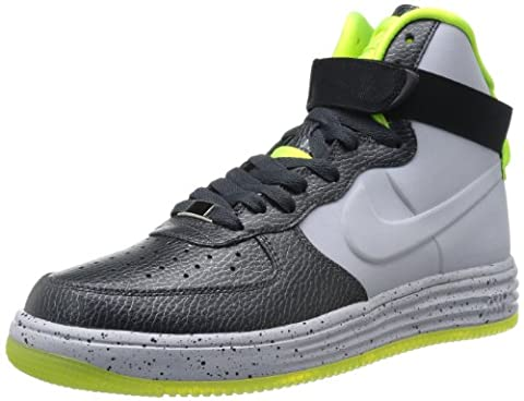 Nike Air Lunar Force 1 Lux VT MID RARITY Sneaker black / gray / neon, EU Shoe Size:44.5 (Nike Lunar Force 1 Mid)