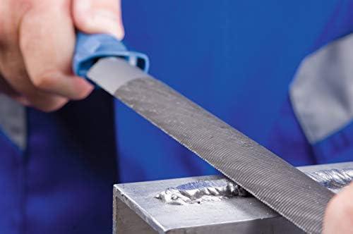 250 mm Pferd 11213257 Cut 2 Half-Round File Silver//Blue