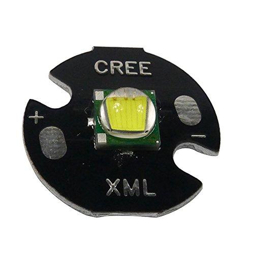 Led Chip (led world Cree Single-Die XM-L T6 LED White 6000K Chip 16mm Round Base for DIY)