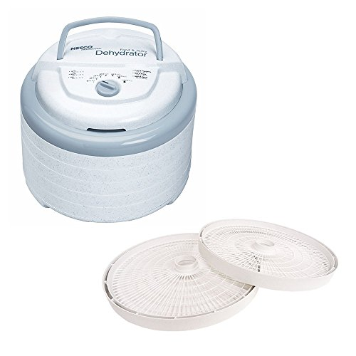 Nesco Snackmaster Pro Food Dehydrator, 600-Watt, FD-75PR and LT-2SG Add-A-Tray for FD-61/FD-61WHC/FD-75A and FD-75PR Dehydrators Set 2 (Nesco Food Dehydrator 600 Watts compare prices)