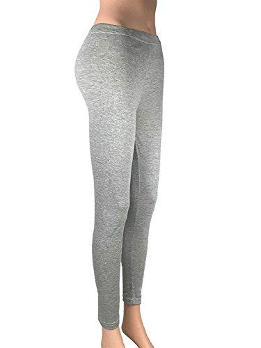 Donna Pantalone Elegante Libero Training Slim Yoga Abbigliamento Casual Fit Legging Pantaloni Tempo Chic Elastico Ragazza Leggings Lunga Nero Moda Skinny p4xwqp