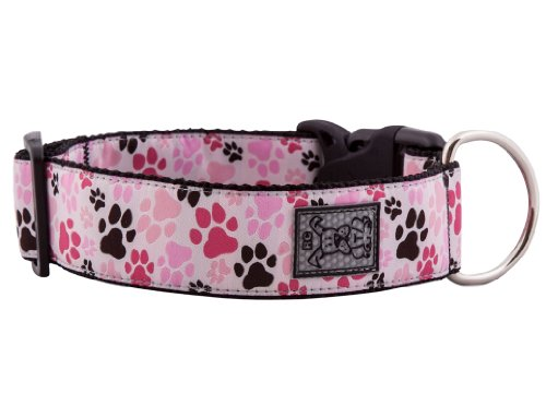 RC Pet Products 1-1/2-Inch Dog Clip Collar, Medium, Pitter Patter Pink