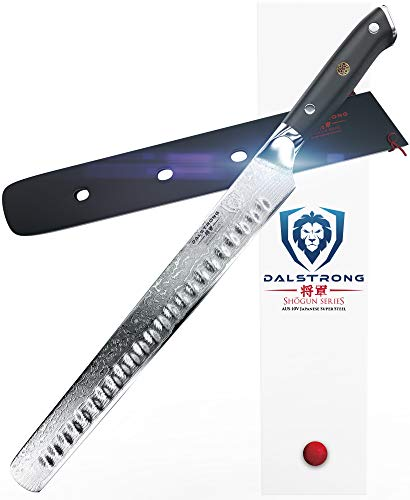 DALSTRONG Slicing Carving Knife - 12' Granton Edge - Shogun Series - AUS-10V- Vacuum Treated - Sheath