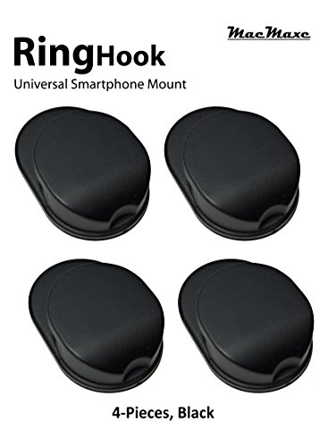 MacMaxe x150 Replacement for Ring Hook Mount Universal Smartphone Mount - Black - 4 Count