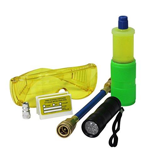 MASTERCOOL (53582 Black 12-LED UV Flashlight Dye Kit]()