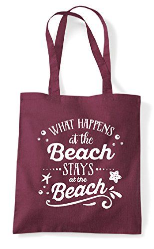 Burgundy Bag At Statement Happens What Beach Shopper The Stays Tote zfv067x