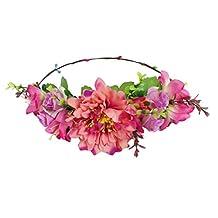 ACVIP Women's Fake Flower Wedding Boho Style Headband