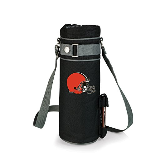 NFL Cleveland Browns Insulated Single Bottle Wine Sack with Corkscrew