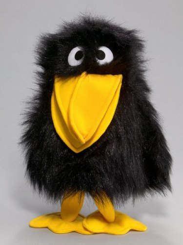 (Carl Dick Raven, Crow, Hand Puppet, 12/15 inches, 30/40cm, Plush Toy, Soft Toy, Stuffed Animal 2020)