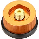 Anself Outdoor Hiking Camping Picnic Stove/Burner Split Type Furnace Converter Connector Auto-off Gas Cartridge Tank Adapter