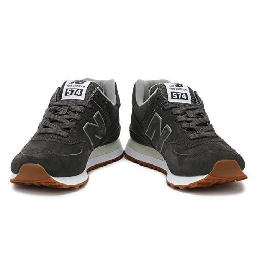 Gris Baskets en Gris Homme New Balance Daim 574 HP1vvw