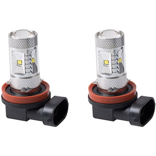 Putco 250011W Optic 360 H11 High Power LED Fog Lamp Bulb,Pack of 2