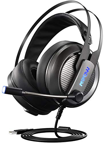 Mpow Gaming Headset, 7.1 Surround Sound Gaming Headphone, Computer USB Headset with Microphone, Noise-Cancelling Mic Over-Ear Headphone Game Headset for PC, PS4