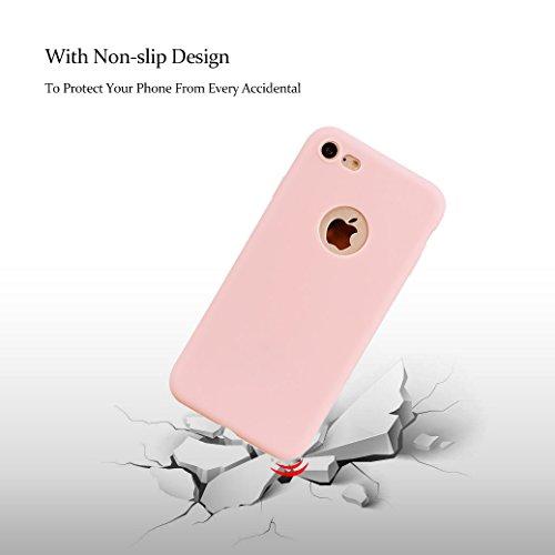 Weiche Hülle für iPhone 8, AllDo TPU Silikon Schutzhülle Schlanke Flexibel Etui Ultra Dünne Glatte Schale Leichte Schutzhülle Soft Flexible Case Cover Einfarbig Hülle Einfaches Entwurf Handyhülle Krat