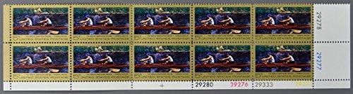 Block 10 1967 US Postal Service Biglin Brothers Racing Eakins Stamps Scott 1335