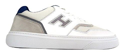 Hogan Scarpe Uomo H340 MOD. Sneaker H Rete HXM3400J270HSN69TU Bianco Blu