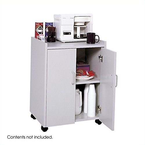 Mobile Center Safco Refreshment - Safco Products 8953GR Mobile Refreshment Hospitality Center, Gray