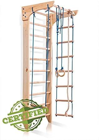SportBaby Barras de Pared para Niños de 2 a 220 escaleras suecas, Gimnasio en casa, Gimnasia, Escalada de Niños, Interior y Zona de Juegos para Niños: Amazon.es: Deportes y aire libre