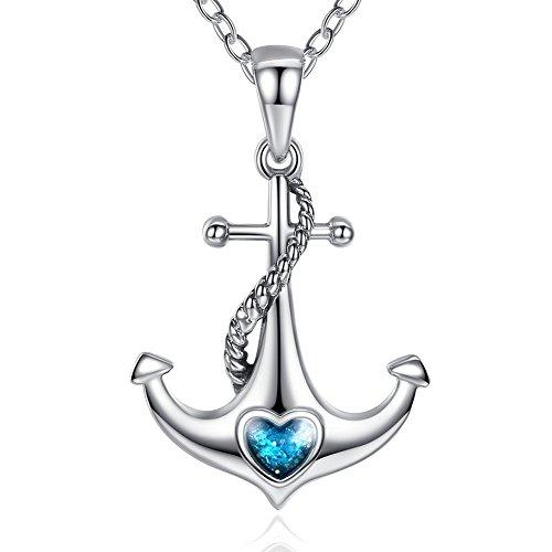 vintage anchor necklace - 8