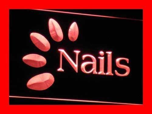 AdvPro Sign Cartel Luminoso ADV PRO i008(a)-r OPEN Nails ...