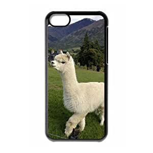 LZHCASE Diy Hard Shell Case Lama Pacos For Iphone 5C [Pattern-1]