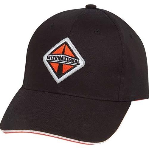 (BD International Semi Trucks Black & Orange Sandwich Visor Medium Twill Cap/Hat)
