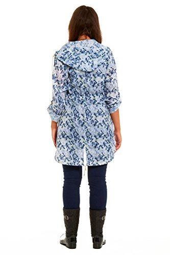 Butterfly Rainy Mujer Days Impermeable Abrigo White Raincoat Para Emma rrpwYzqU