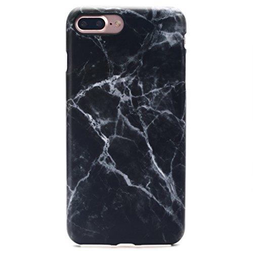 GOLINK iPhone 7 Plus Case/iPhone 8 Plus Marble Case, Matte Marble Series Slim-Fit Anti-Scratch Shock Proof Anti-Finger Print Flexible TPU Gel Case for iPhone 7 Plus - Black Marble III